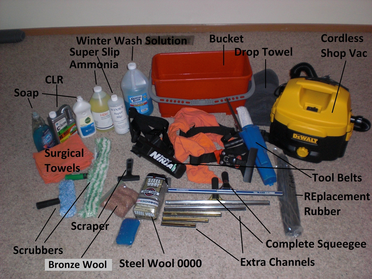 Tools For Window Cleaning