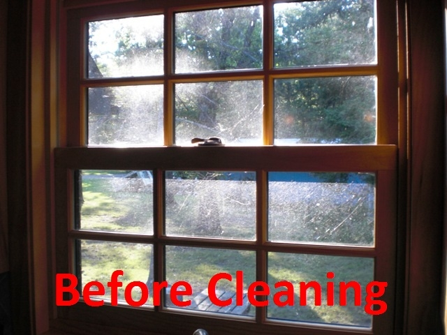 Before Window is Cleaned